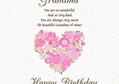 Best Happy Birthday ECard Wishes For Grandma