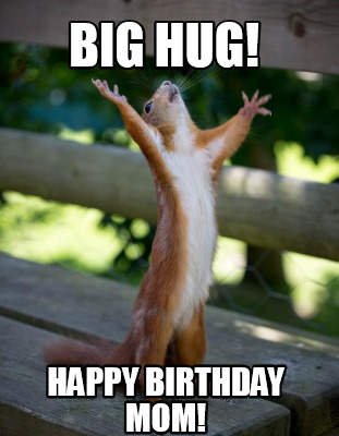 Big Hug Funny Birthday Meme For Mom