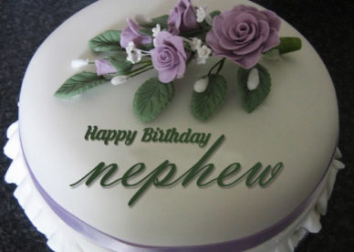Birthday Wishes To Nephew With Cake And Flowers - Happy Birthday Wishes, Memes, SMS & Greeting eCard Images