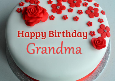 Happy Birthday Ecards With Cake For Grandma