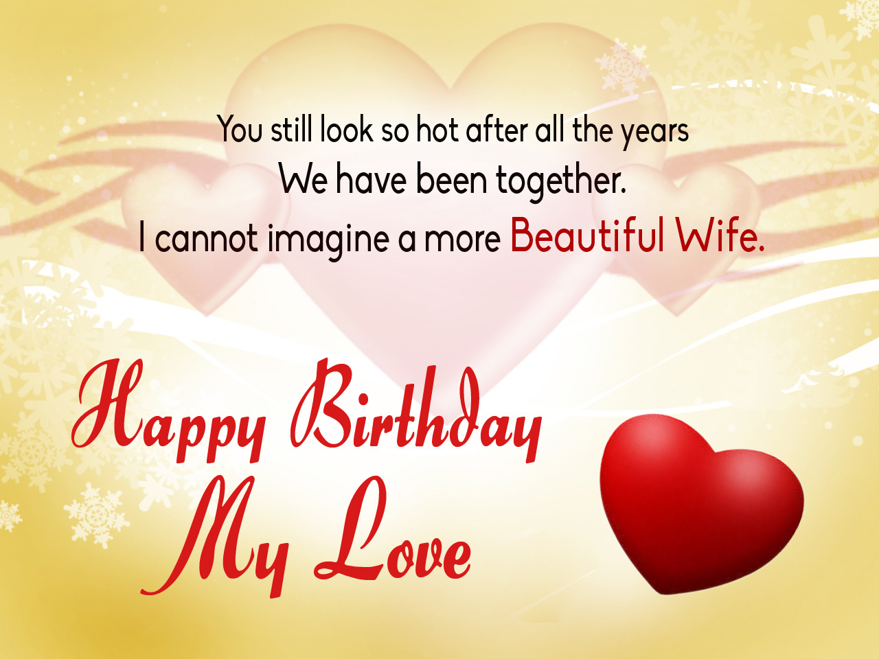 Wife Birthday Card Happy Wishes Memes SMS Greeting ECard Images