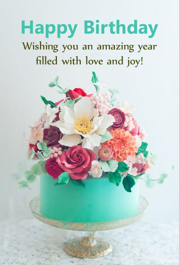 Beautiful Flowers For Birthday Wishes - Happy Birthday Wishes, Memes, SMS & Greeting eCard Images