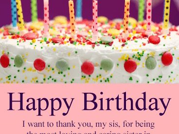 Free Happy Birthday Sister Images - Happy Birthday Wishes, Memes, SMS & Greeting eCard Images