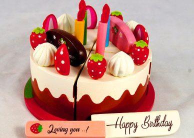 Happy Birthday Cake Loving you - Happy Birthday Wishes, Memes, SMS & Greeting eCard Images