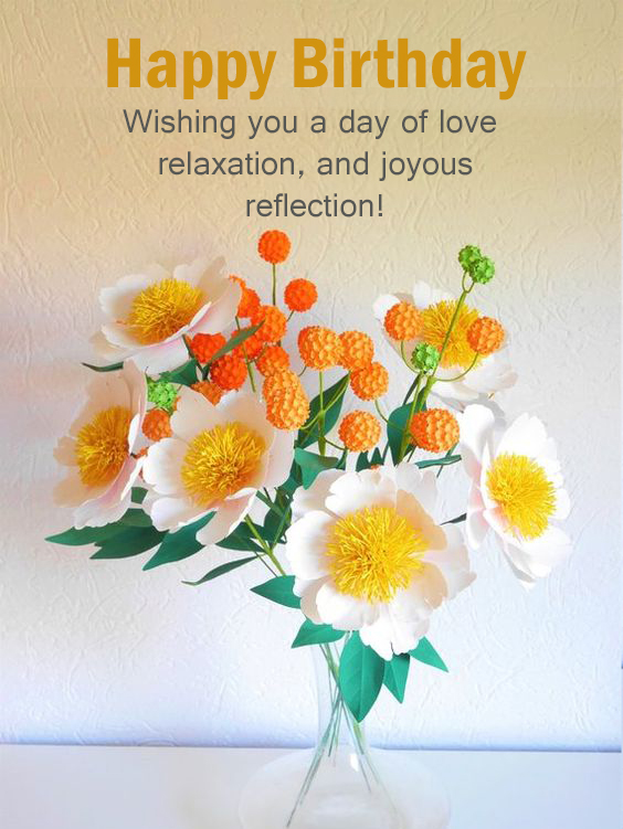 Happy Birthday Flower Messages - Happy Birthday Wishes, Memes, SMS & Greeting eCard Images