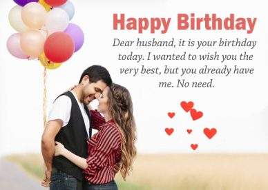 Happy Birthday Quotes Images For Husband - Happy Birthday Wishes, Memes, SMS & Greeting eCard Images