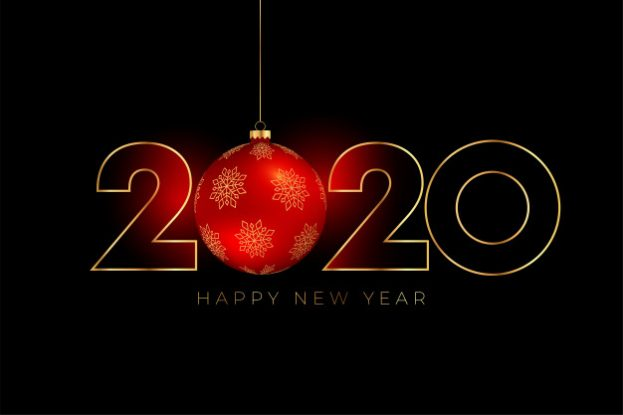 Red Christmas Ball For New Year 2020 - Happy Birthday Wishes, Memes, SMS & Greeting eCard Images