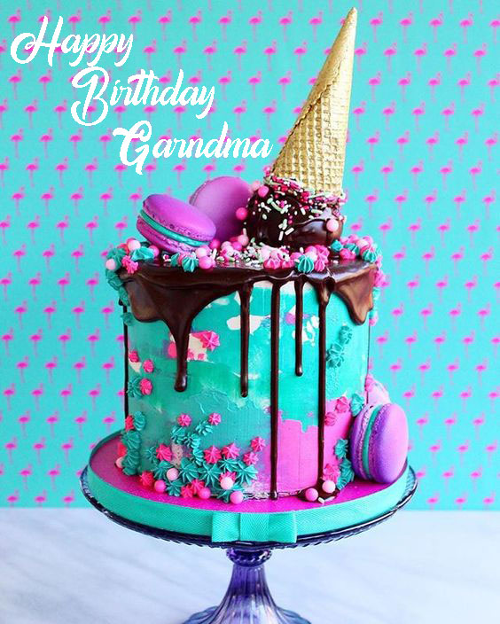 Grandmother Happy Birthday Cakes - Happy Birthday Wishes, Memes, SMS & Greeting eCard Images