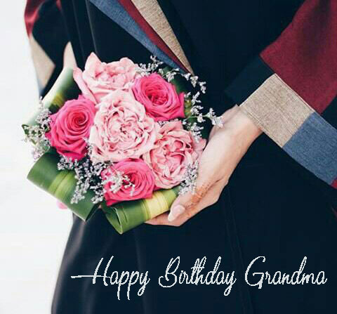 Happy Birthday Grandma Flower Bouquet - Happy Birthday Wishes, Memes, SMS & Greeting eCard Images