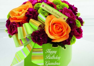 Happy Birthday Grandma Flowers Photos - Happy Birthday Wishes, Memes, SMS & Greeting eCard Images