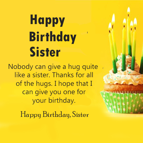 Birthday Wishes For Sister Quotes - Happy Birthday Wishes, Memes, SMS & Greeting eCard Images