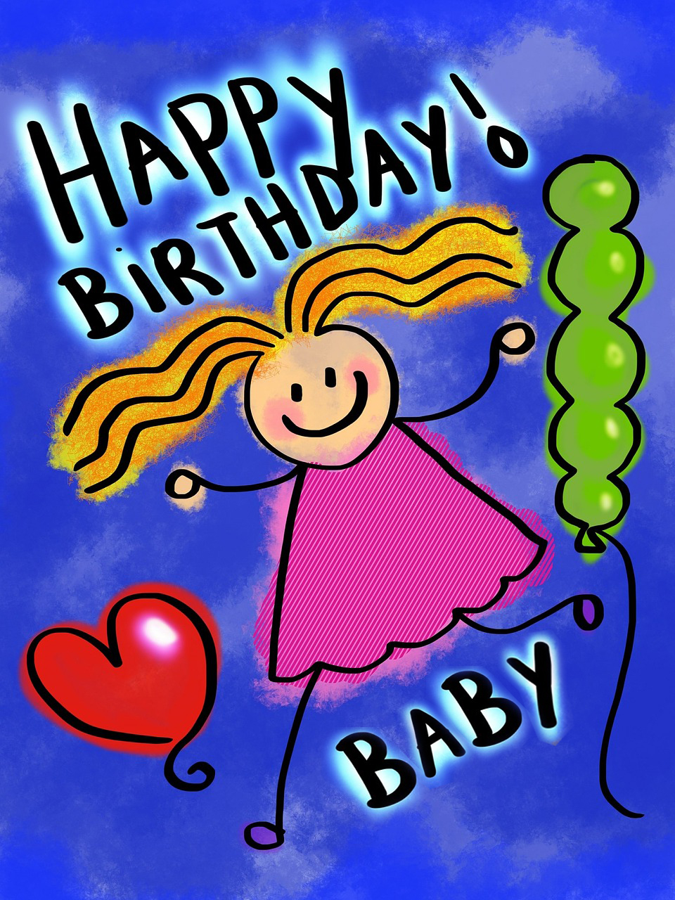 Swell Happy Birthday Baby Girl Happy Birthday Wishes Memes Sms Personalised Birthday Cards Rectzonderlifede