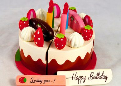 Happy Birthday Cake Loving you - Happy Birthday Wishes, Memes, SMS & Greeting eCard Images