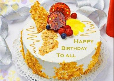 Happy Birthday Cake To All - Happy Birthday Wishes, Memes, SMS & Greeting eCard Images