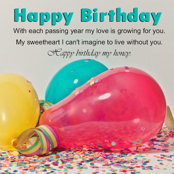 Happy Birthday My Girlfriend Honey - Happy Birthday Wishes, Memes, SMS & Greeting eCard Images