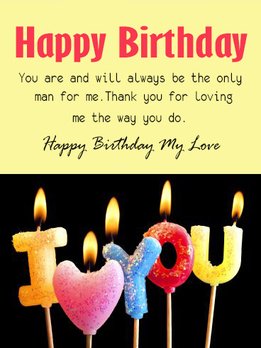 Happy Birthday My Love Husband - Happy Birthday Wishes, Memes, SMS & Greeting eCard Images