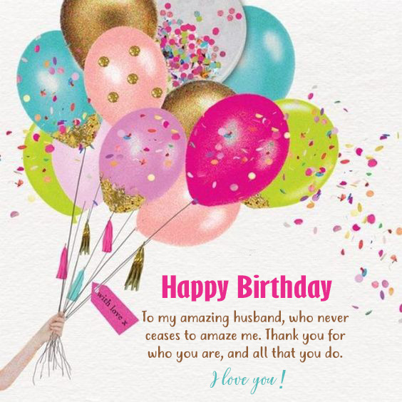 Happy Birthday To My Amazing Husband - Happy Birthday Wishes, Memes, SMS & Greeting eCard Images