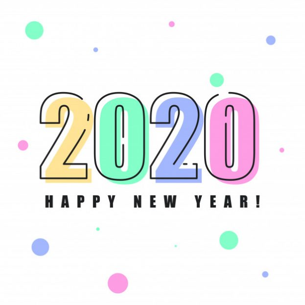 Happy New Year Vector 2020 - Happy Birthday Wishes, Memes, SMS & Greeting eCard Images