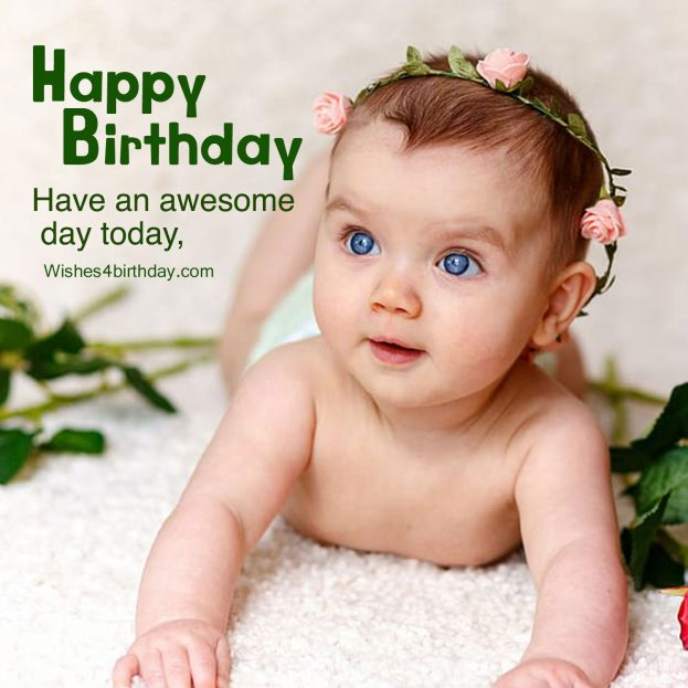 Lovely Birthday wishes images for first baby - Happy Birthday Wishes, Memes, SMS & Greeting eCard Images