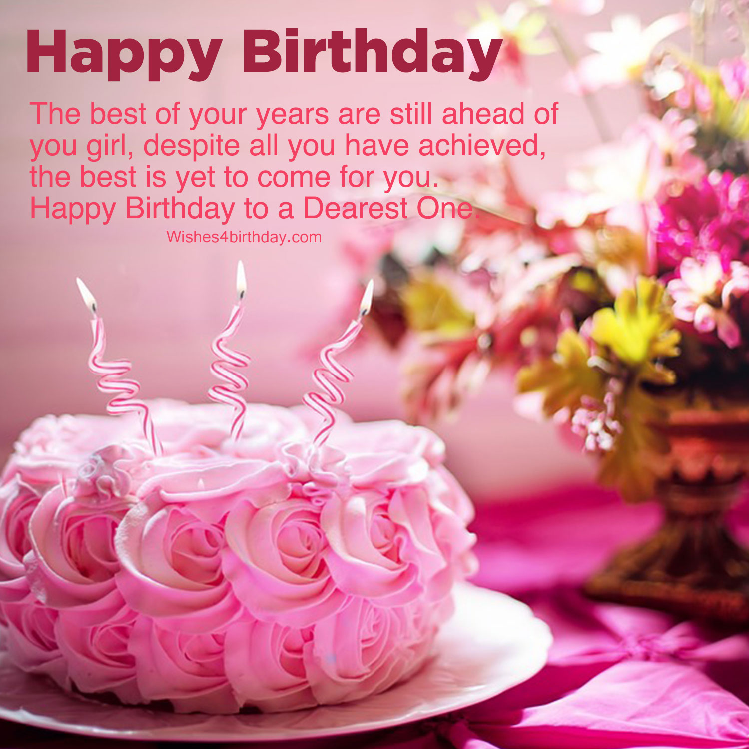 birthday party wishes images for girlfriend  happy